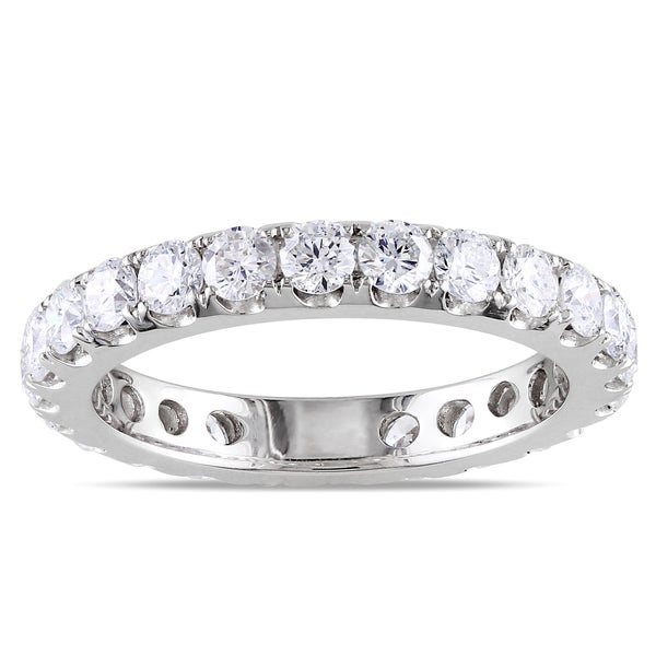 Miadora Signature Collection 14k White Gold 2ct TDW Diamond Eternity Band