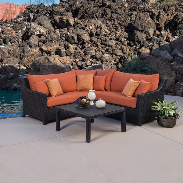 Rst Outdoor Tikka 4 Piece Corner Sectional Sofa And