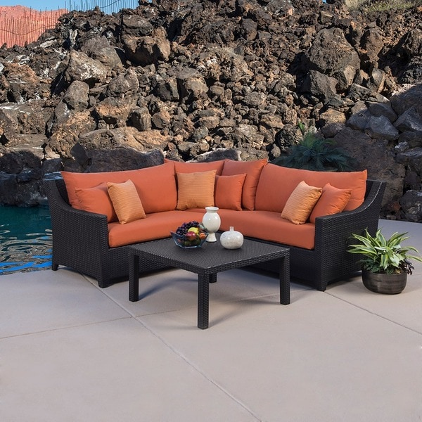 RST Outdoor Tikka Piece Corner Sectional Sofa And Coffee Table - Rst outdoor furniture