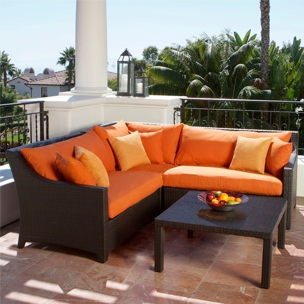 Rst Outdoor Tikka 4 Piece Corner Sectional Sofa And Coffee Table Patio Furniture Set Free Shipping Today Overstock Com 15063915