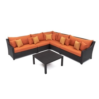 RST Outdoor 'Tikka' 6-Piece Corner Sectional Sofa and Coffee Table Patio Furniture Set