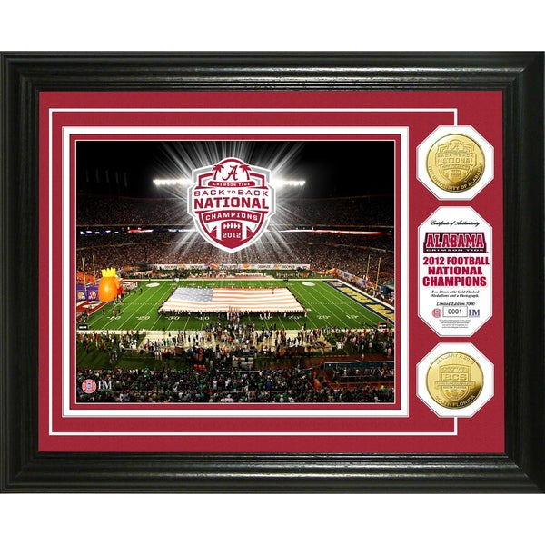 Alabama 2013 BCS National Champions Gold Coin Photomint