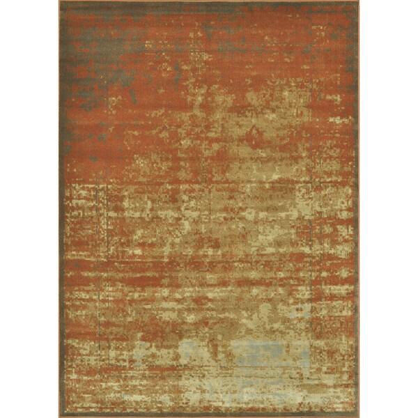 Royalty Rust/ Gold Rug (3'9 x 5'6)