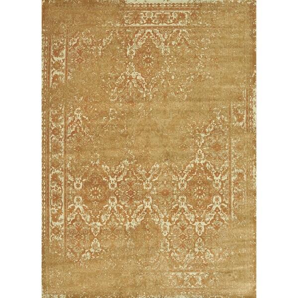Royalty Rust/ Ivory Rug (5'2 x 7'7)