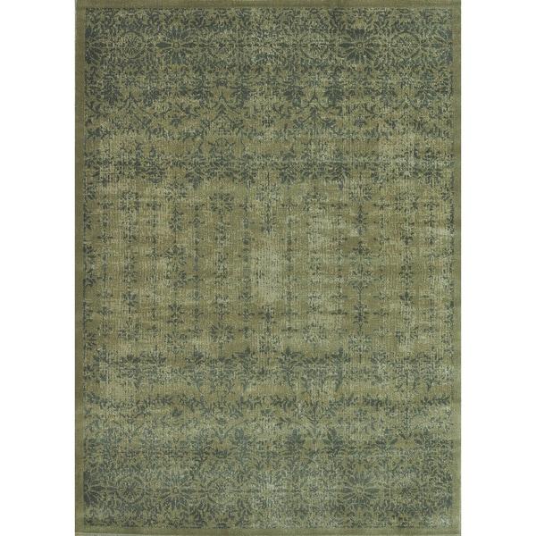 Royalty Taupe/ Slate Rug (3'9 x 5'6)
