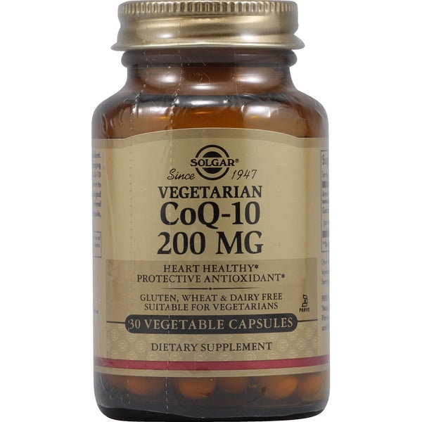 Solgar Coenzyme Q10 200mg Supplement (30 Capsules)