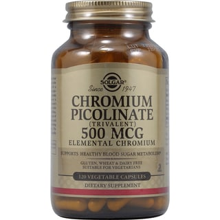 Solgar Chromium Picolinate 500mcg Supplement (120 Capsules)