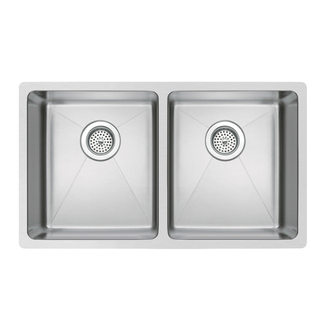 Water Creation 31 Inch X 18 Inch 50 50 Double Bowl Stainless Steel Hand Made Undermount Kitchen Sink With Coved Corners Overstock 7649660