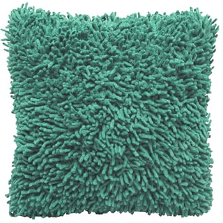 Aqua Shagadelic Chenille 18-inch Double Sided Decorative Pillow