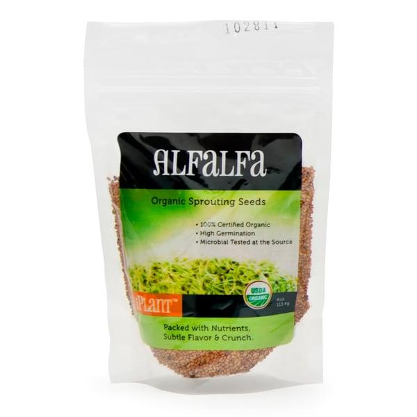 iPlant Organic Alfalfa Sprout Seeds (4-ounce bag)