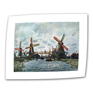 Claude Monet 'Windmills' Flat Canvas Art