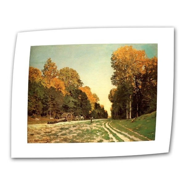 Claude Monet 'Lumber Wagon' Flat Canvas