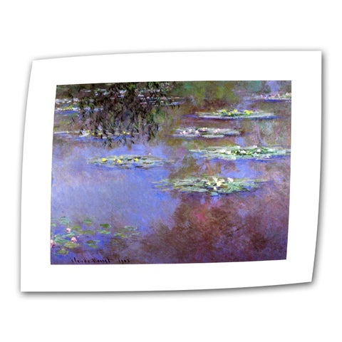 Claude Monet 'Sea Roses II' Flat Canvas