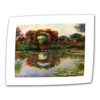 Claude Monet 'Foliage Trestle' Flat Canvas