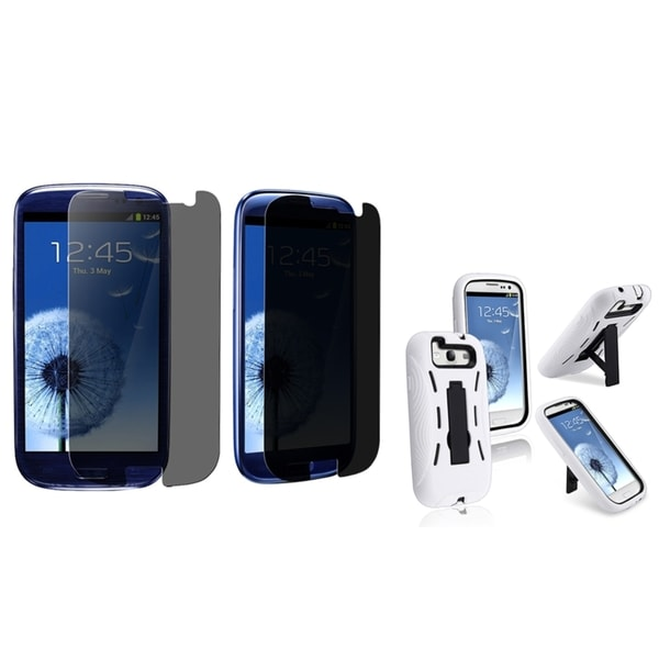 BasAcc Hybrid Case/ Privacy LCD Protector for Samsung Galaxy S III/ S3