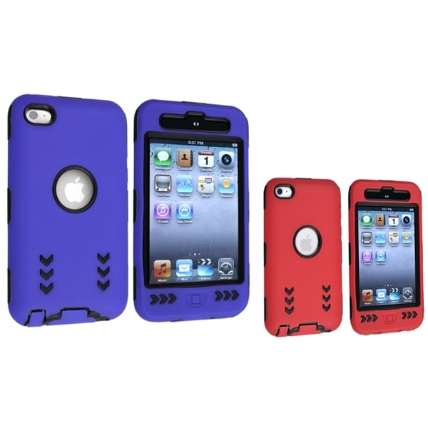 BasAcc Hybrid Cases for Apple iPod Touch 4th Generation (Pack of 2)