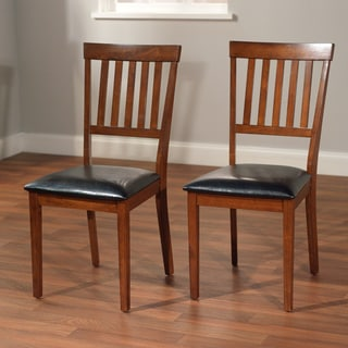 Simple Living Rhonda Faux Leather Dining Chairs (Set of 2)