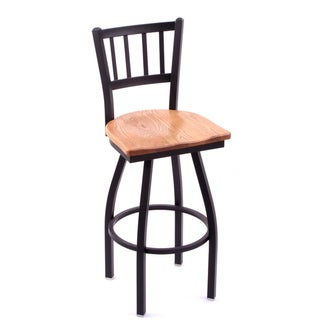 Cambridge Medium Oak Extra Tall Swivel Barstool