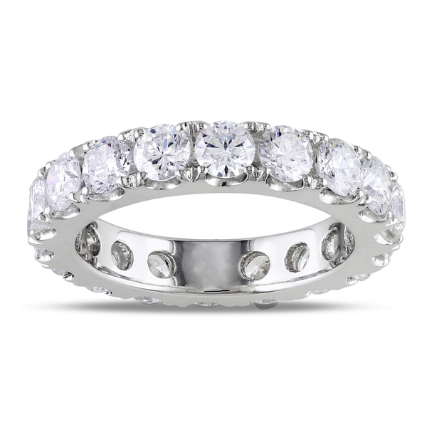Miadora Signature Collection 14k White Gold 3ct TDW Diamond Eternity Ring