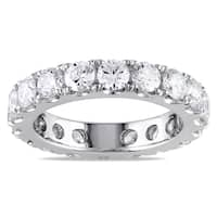 Miadora Signature Collection 14k White Gold 3ct TDW Diamond Eternity Ring