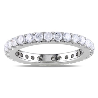 Miadora Signature Collection 14k White Gold 1ct TDW Diamond Eternity Ring