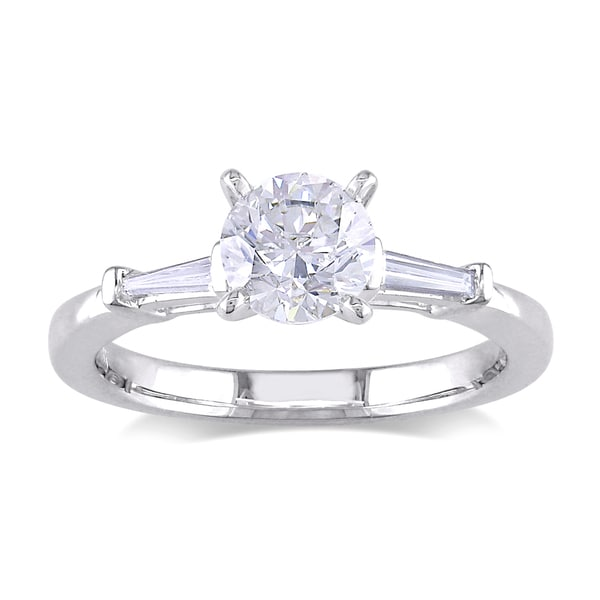 Miadora 18k White Gold 1ct TDW Diamond Engagement Ring (G-H, SI1-SI2)
