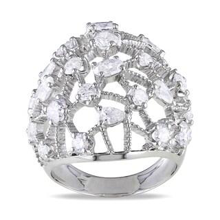 Miadora Signature Collection 14k White Gold 2 3/4ct TDW Diamond Cocktail Ring