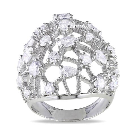 Miadora Signature Collection 14k White Gold 2 3/4ct TDW Diamond Cocktail Ring