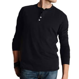 Canvas Men's Cotton Long-sleeved Henley Shirt|https://ak1.ostkcdn.com/images/products/7650125/P15065615.jpg?impolicy=medium