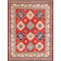 Handmade Herat Oriental Afghan Kazak Wool Rug  - 7'11 x 10'1 (Afghanistan)