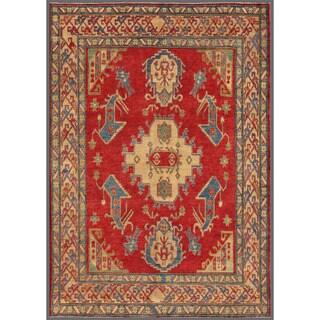 Herat Oriental Afghan Hand-knotted Kazak Wool Rug - 6'4 x 8'10
