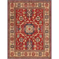 Handmade Herat Oriental Afghan Kazak Wool Rug  - 6'2 x 8'5 (Afghanistan)
