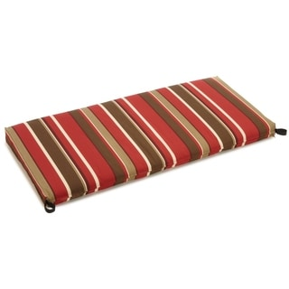 Blazing Needles Tropical/ Stripe Outdoor Bench Cushion