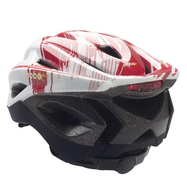 The Mobo Red/ White 360 Degrees LED Light Helmet (L/XL)