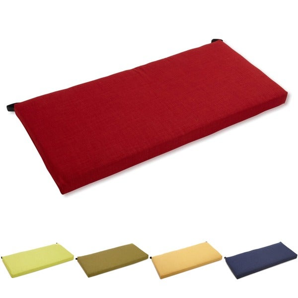 Blazing Needles 42-inch Solid Outdoor Bench Cushion