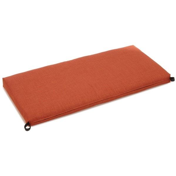 Blazing Needles Solid Earthtone Outdoor Bench Cushion