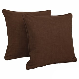 Blazing Needles Earthtone 18-inch Throw Pillows (Set of 2)