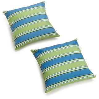 Blazing Needles Patterned 18-inch Throw Pillows (Set of 2)