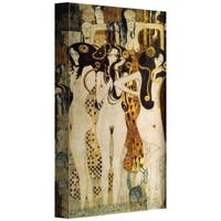 Gustav Klim 'Beethoven Frieze' Gallery Wrapped Canvas