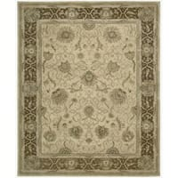 Hand-tufted Heritage Hall Beige Rug (2'6 x 4'2) - 2'6 x 4'2