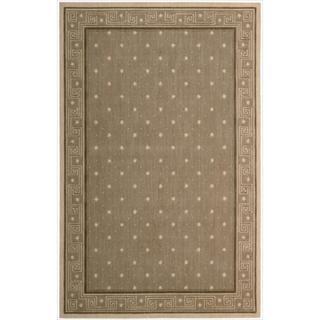 Cosmopolitan Chestnut Star Print Rug (3'6 x 5'6)