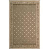 Cosmopolitan Chestnut Star Print Rug - 5'3 x 8'3