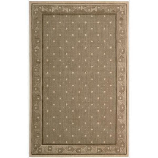Cosmopolitan Chestnut Star Print Rug - 7'6 x 9'6
