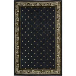Cosmopolitan Midnight Star Print Rug (5'3 x 8'3)