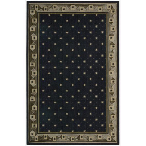 Cosmopolitan Midnight Star Print Rug - 5'3 x 8'3