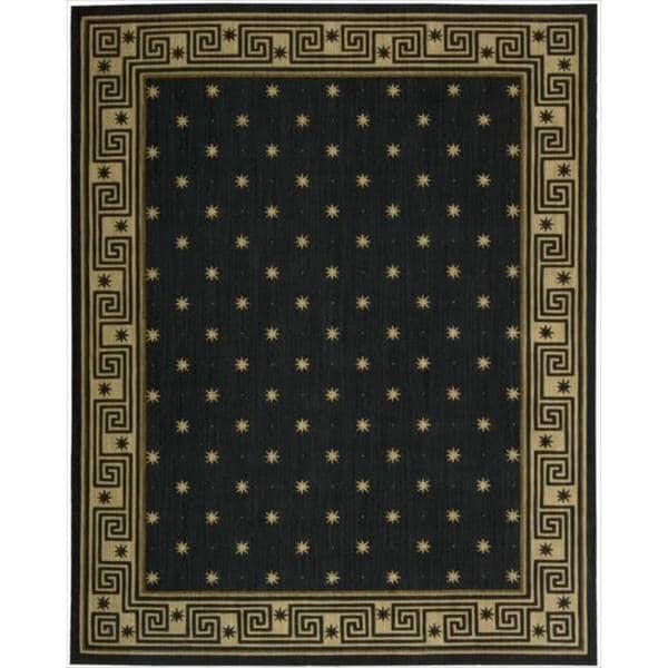 Cosmopolitan Midnight Star Print Rug - 7'6 x 9'6