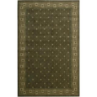 Cosmopolitan Spruce Star Print Rug (5'3 x 8'3)
