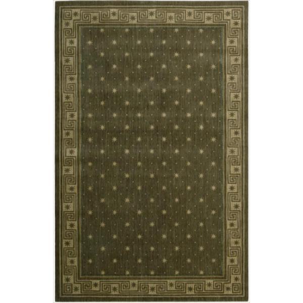 Cosmopolitan Spruce Star Print Rug (5'3 x 8'3) - 5'3 x 8'3
