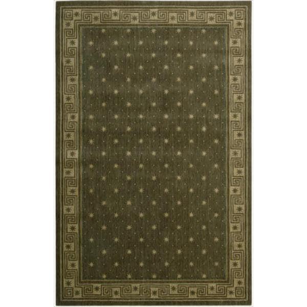 Cosmopolitan Spruce Star Print Rug (7'6 x 9'6)