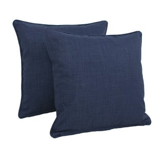 Blazing Needles Earthtone 18-inch Outdoor Throw Pillows (Set of 2)